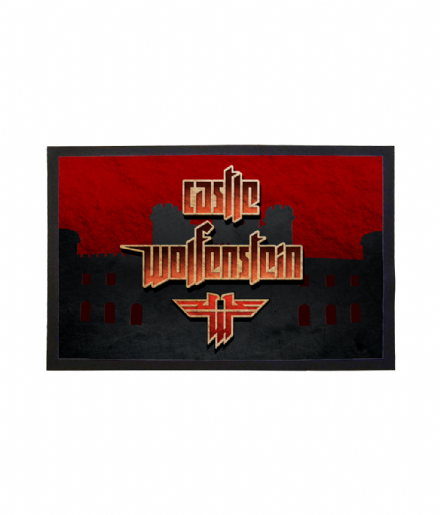 Castle Wolfenstein Doormat Printed Welcome Mat